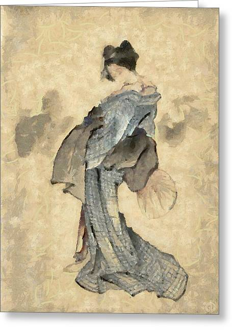 Geisha Greeting Card by Gun Legler