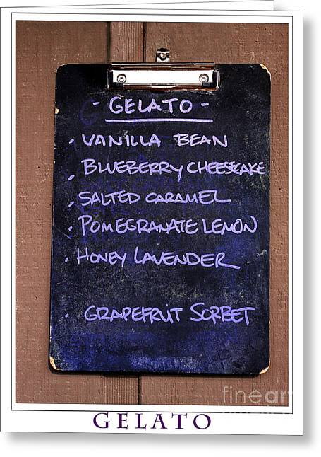 Sorbet Digital Art Greeting Cards - Gelato Greeting Card by Janice Rae Pariza