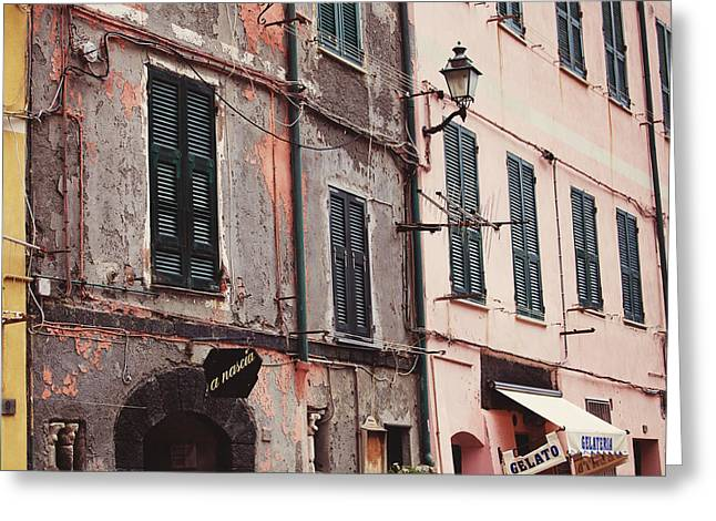 Monterosso Greeting Cards - Gelato Greeting Card by Kim Fearheiley