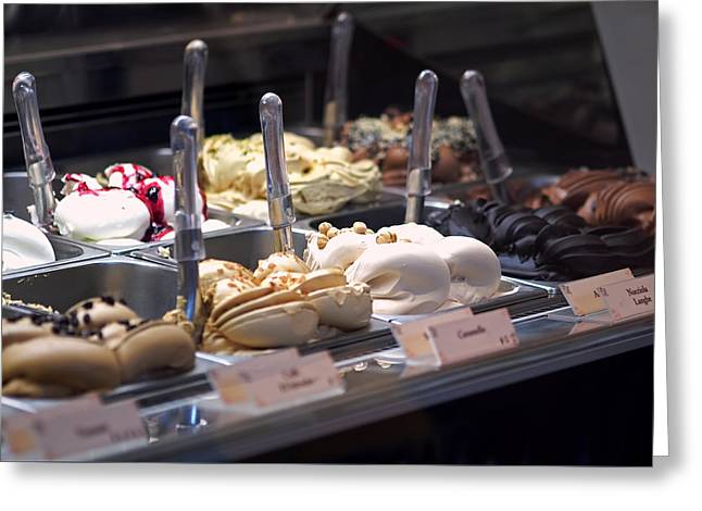 Ice Photographs Greeting Cards - Gelato Greeting Card by Rona Black