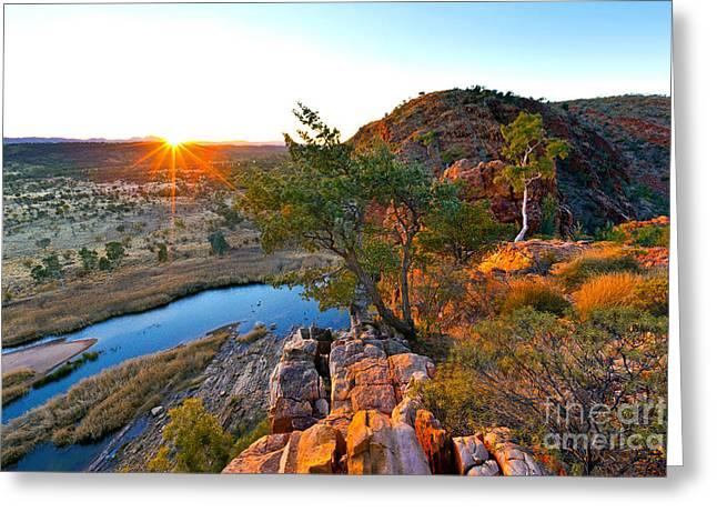 Gelen Helen Gorge Sunrise Greeting Card by Bill  Robinson