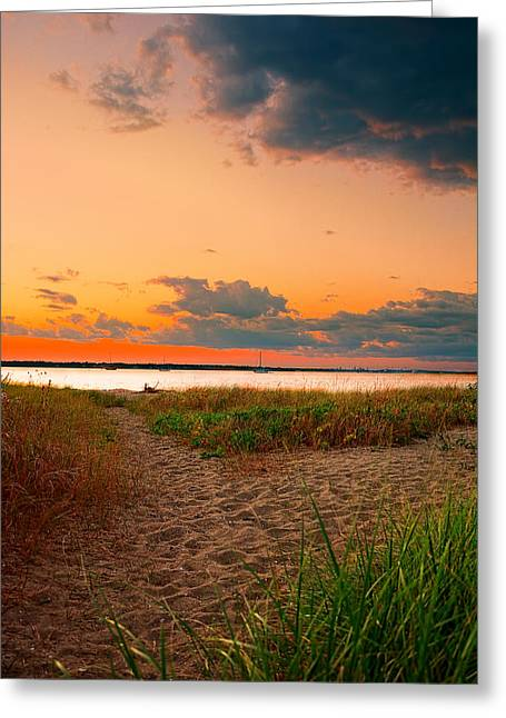 Gem On The Bay Greeting Card by Lourry Legarde