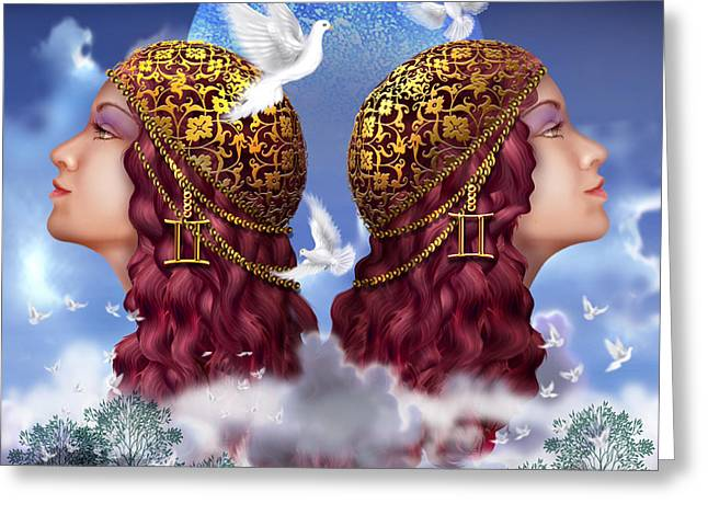 Dove Greeting Cards - Gemini Greeting Card by Ciro Marchetti