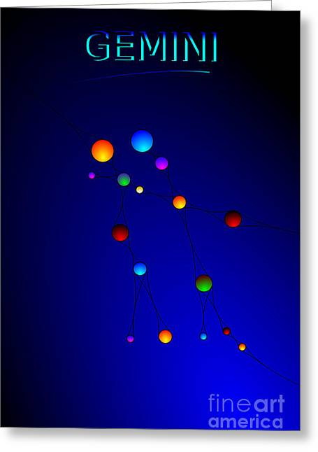 Pinterest Greeting Cards - Gemini Greeting Card by Star Sign  Designs