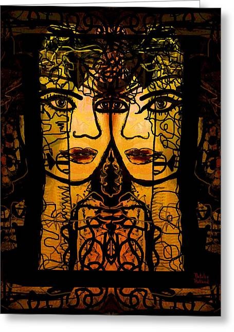 Gold Earrings Greeting Cards - Gemini Twins Greeting Card by Natalie Holland