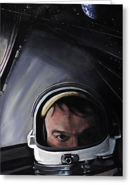 Nasa Greeting Cards - Gemini X- Michael Collins Greeting Card by Simon Kregar