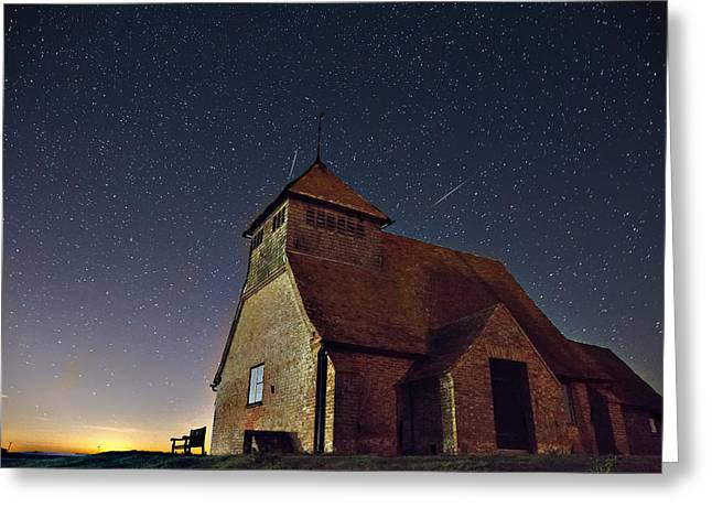 Geminids Greeting Cards - Geminid Meteor Fairfield Greeting Card by Simon Gray