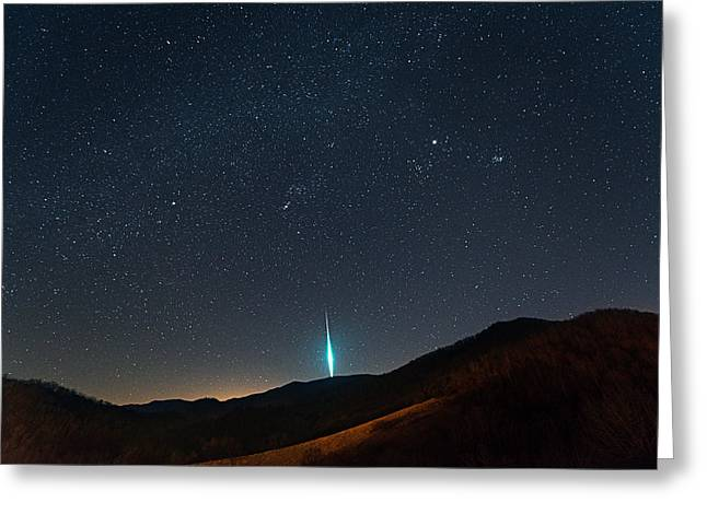 Geminids Greeting Cards - Geminid meteor Greeting Card by Kevin Adams