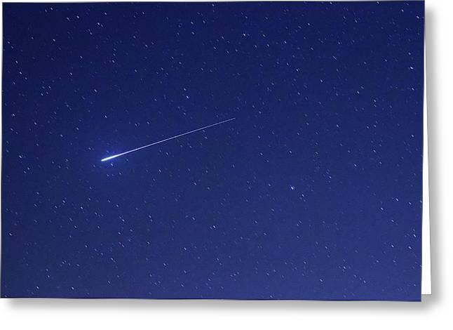 Geminid Meteor Greeting Card by Luis Argerich