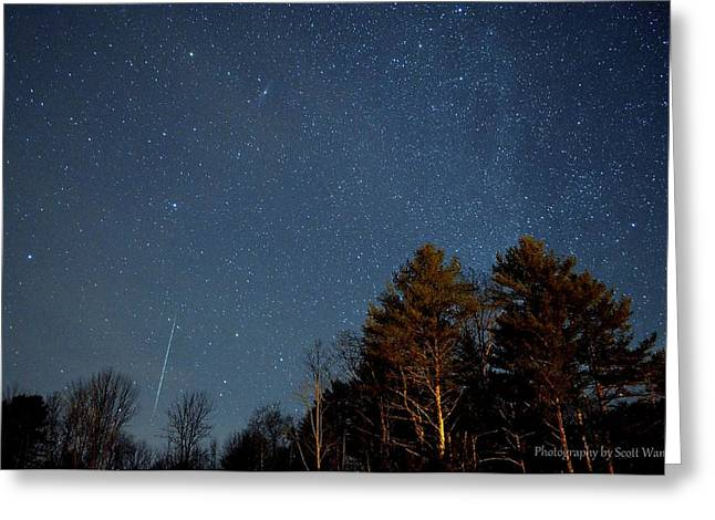 Geminids Greeting Cards - Geminid Meteor Shower 2012 Greeting Card by Scott Wandell