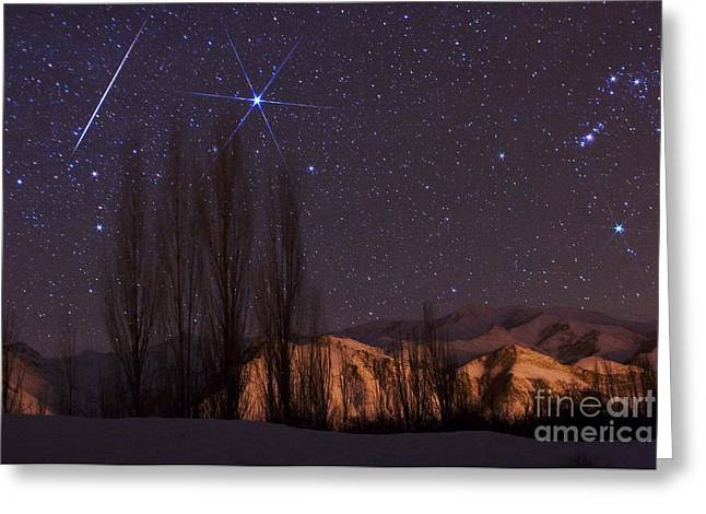 Geminids Greeting Cards - Geminid Meteor Shower Greeting Card by Babak Tafreshi