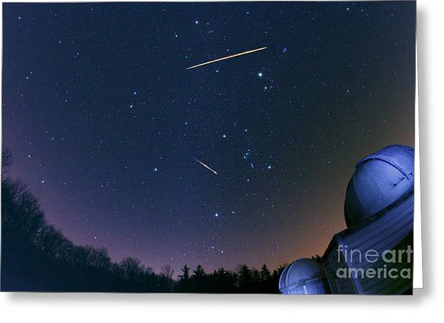 Geminids Greeting Cards - Geminid Meteor Shower Greeting Card by John Chumack