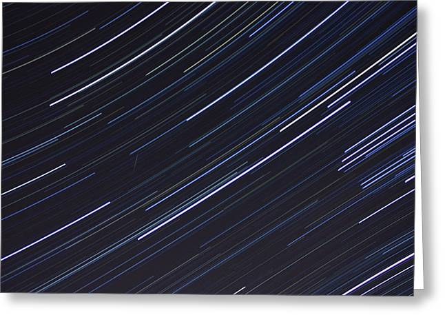 Geminids Greeting Cards - Geminid Star Trails Greeting Card by Claus Siebenhaar