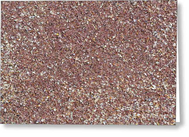 Sand Patterns Greeting Cards - Gemstone sand Greeting Card by Christina Rahm