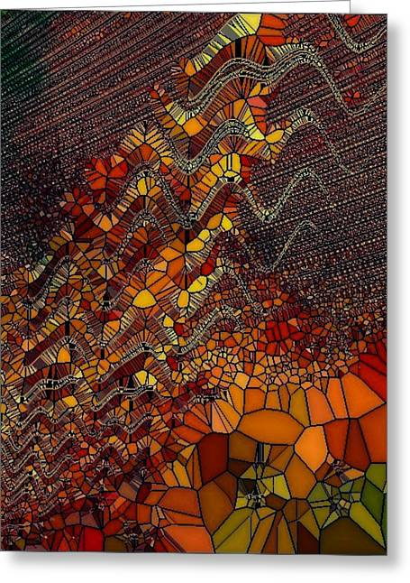 Generative Abstract Greeting Cards - Gen001-am Greeting Card by Amanda Moore