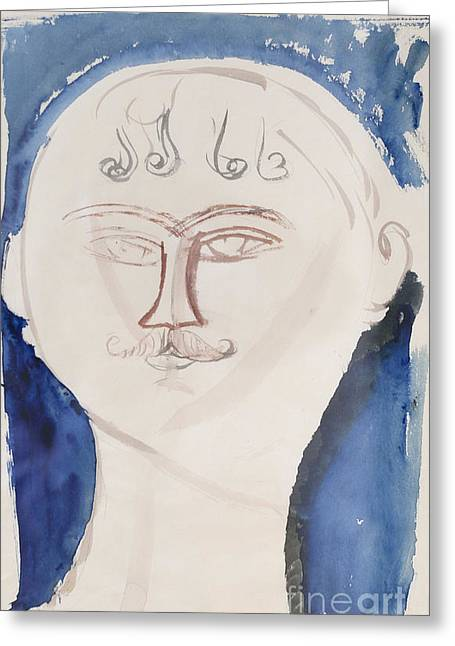 Modigliani Photographs Greeting Cards - Gendarme by Amedeo Modigliani Greeting Card by Roberto Morgenthaler