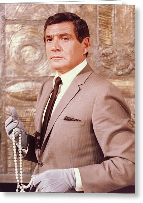 Barry Greeting Cards - Gene Barry in The Name of the Game Greeting Card by Silver Screen
