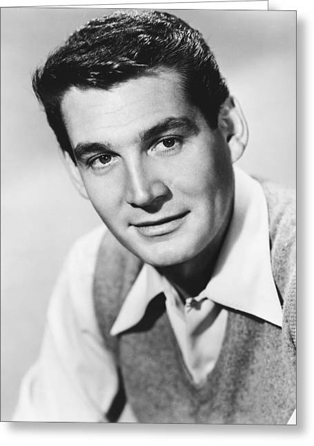 Genes Greeting Cards - Gene Barry Greeting Card by Silver Screen
