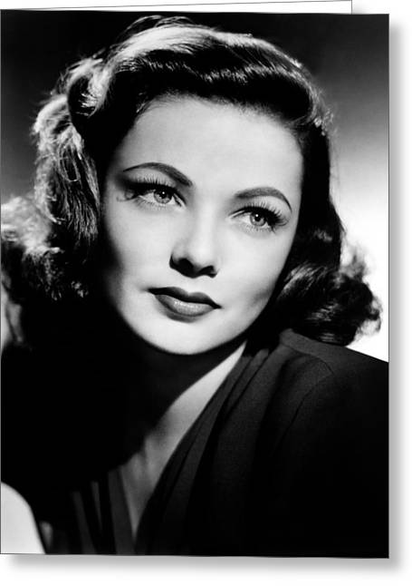 Tierney Greeting Cards - Gene Tierney Greeting Card by Mountain Dreams