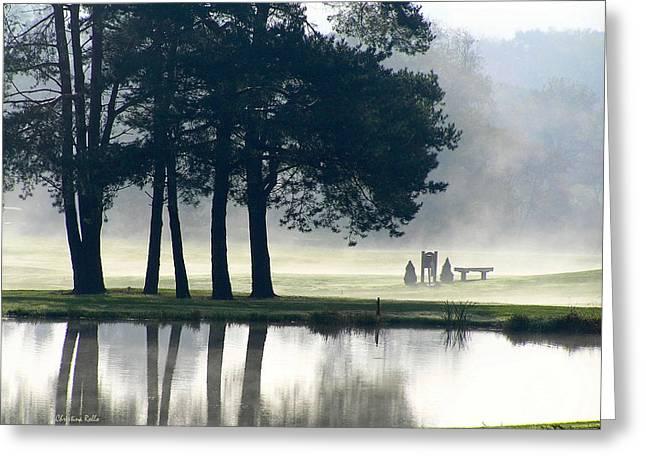 Early Morning Sun Greeting Cards - Genegantslet Golf Club Greeting Card by Christina Rollo
