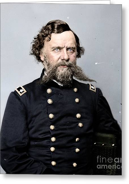 The General Lee Photographs Greeting Cards - General Alpheus S Williams Greeting Card by Celestial Images
