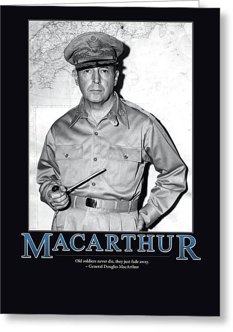 Macarthur Greeting Cards - General Douglas MacArthur Greeting Card by Retro Images Archive