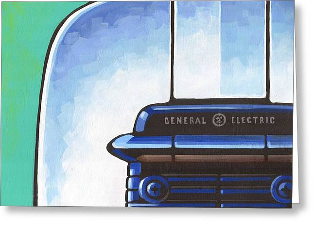 Toaster Paintings Greeting Cards - General Electric Toaster Greeting Card by Larry Hunter