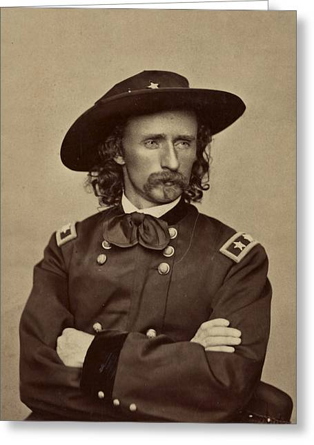 Last Stand Greeting Cards - General George Armstrong Custer 1865 Greeting Card by Mountain Dreams