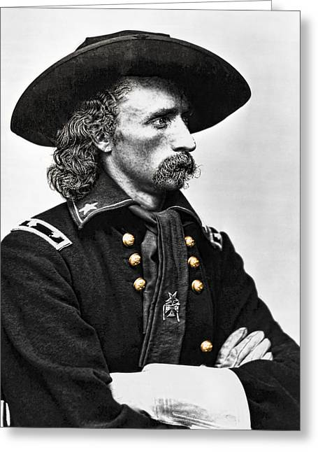 Last Stand Greeting Cards - General George Armstrong Custer  Greeting Card by Daniel Hagerman