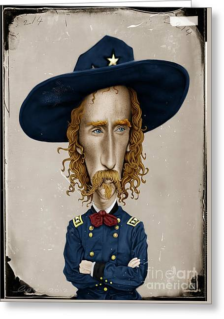 Photoshop Greeting Cards - General George Custer Greeting Card by Andre Koekemoer