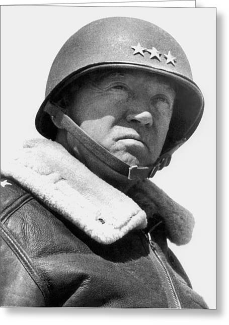 Stored Greeting Cards - General George Patton Greeting Card by War Is Hell Store