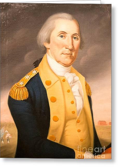 Epaulettes Greeting Cards - General George Washington ca 1790 Greeting Card by Charles Peale Polk