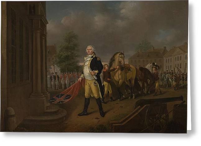 Flag Of Usa Greeting Cards - General Humphreys Delivering Greeting Card by Nicolas Louis Albert Delerive