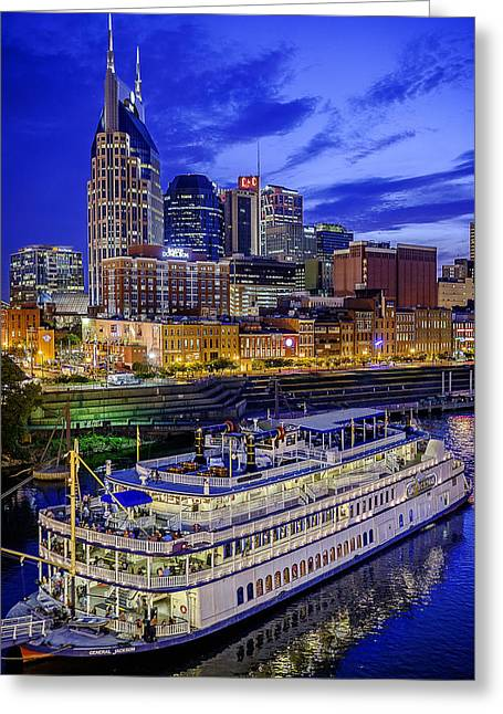 Boat Cruise Greeting Cards - General Jackson in Nashville Greeting Card by Brett Engle