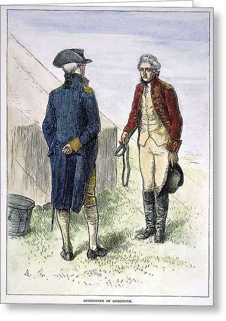 General John Burgoyne Greeting Card by Granger