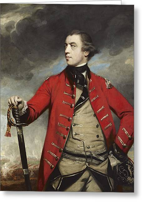 General John Burgoyne Greeting Card by Reynolds c