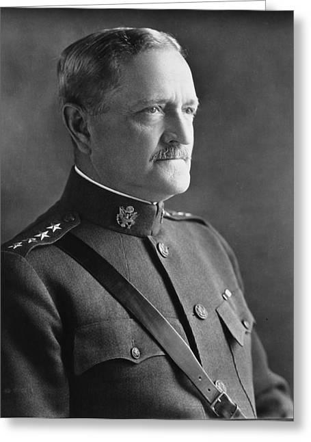 Pershing Greeting Cards - General John J Pershing 1920 Greeting Card by Mountain Dreams