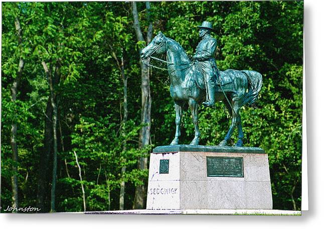 Confederate Monument Greeting Cards - General John Sedgewick Gettysburg Battleground Greeting Card by  Bob and Nadine Johnston
