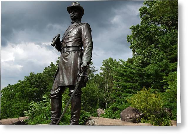 General K Warren Monument Gettysburg Greeting Card by James Brunker