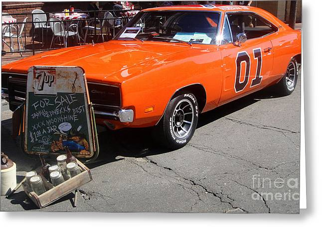 Dukes Of Hazard Greeting Cards - General Lee Greeting Card by Gregory Dyer