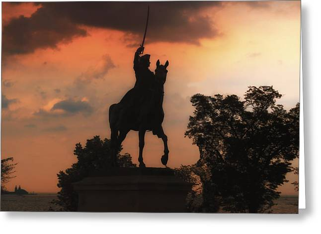 Calvary Greeting Cards - General Pulaski Chicago Statue Greeting Card by Thomas Woolworth