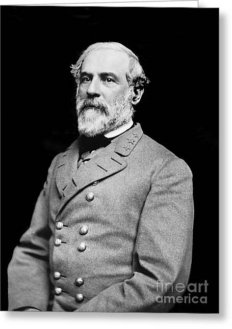 Gettysburg Greeting Cards - General Robert E Lee - CSA Greeting Card by Paul W Faust -  Impressions of Light