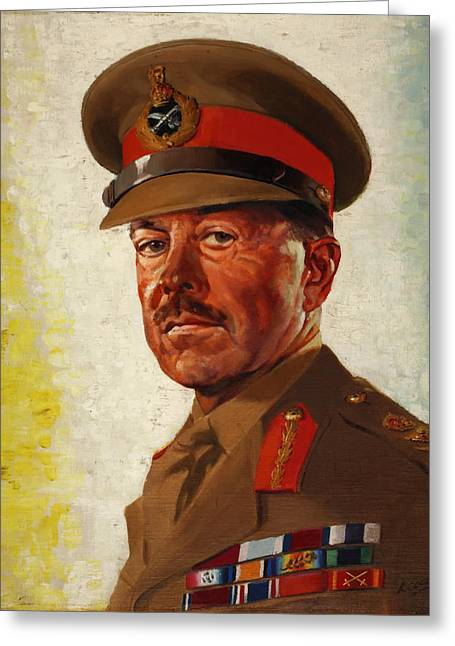 General Concept Greeting Cards - General Sir Howard Alexander Greeting Card by Little
