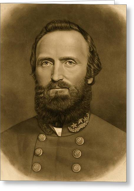 General Stonewall Jackson 1871 Greeting Card by Anonymous