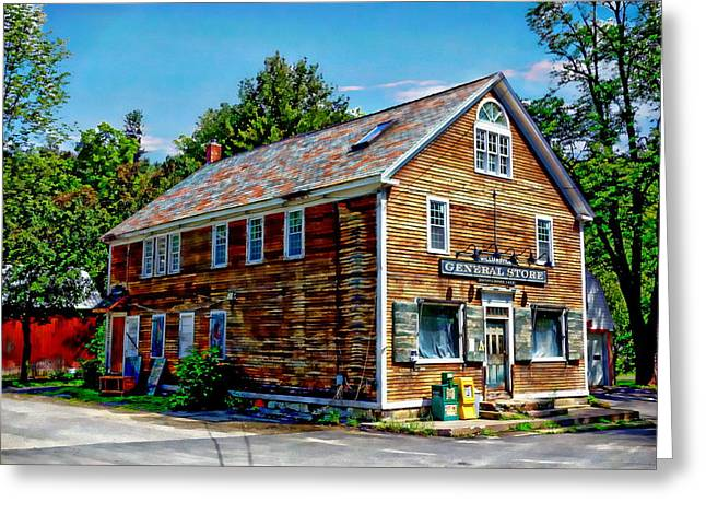 Vermont Country Store Greeting Cards - General Store Greeting Card by Anthony Dezenzio