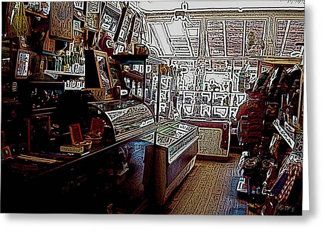 Rural Indiana Digital Art Greeting Cards - General Store Greeting Card by BackHome Images