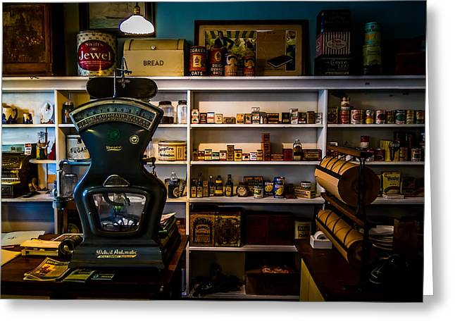 Grocery Store Greeting Cards - General Store Greeting Card by Chuck De La Rosa