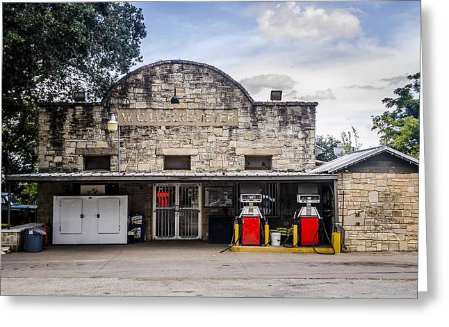 Town Square Greeting Cards - General Store in Independence Texas Greeting Card by David Morefield