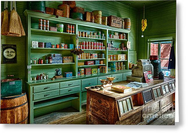 Merchant Greeting Cards - General Store Greeting Card by Inge Johnsson