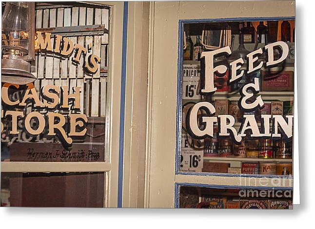 Grocery Store Greeting Cards - General Store Greeting Card by Janice Rae Pariza